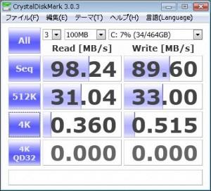 HDD(MQ01ABD050)のベンチーマーク結果画像
