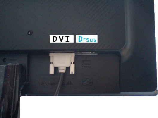 GW2265背面のDVI端子とD-sub端子