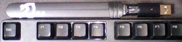 gw-300sをキーボードと並べたサイズ参考写真 その2