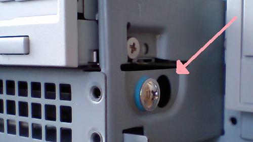 HDDを固定しているネジの写真