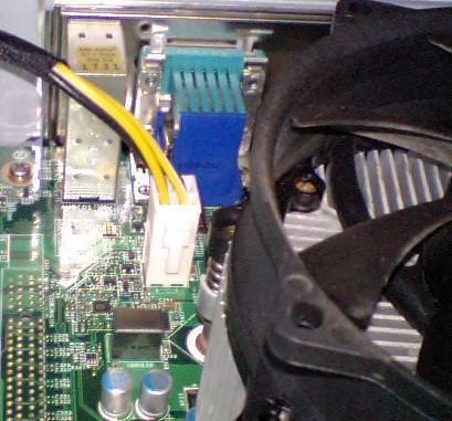 atx12v・CPU用電源のコネクタの写真