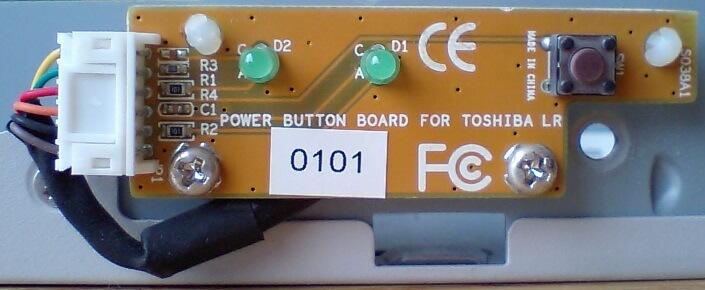 電源ボタンやHDDランプ等の写真